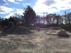 Bauarbeiten auf der Liegewiese des Wolfgang-Adami-Bades