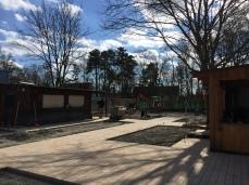 Bauarbeiten am neuen Biergarten des SVW05