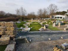 Entstehung des Wassergrabens auf der Abenteuer Golf-Anlage im Schwimmverein Würzburg 05