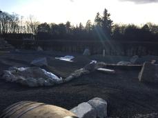 Bauarbeiten am Abenteuer Golfpark SVW05 auf der Liegewiese im SVW05