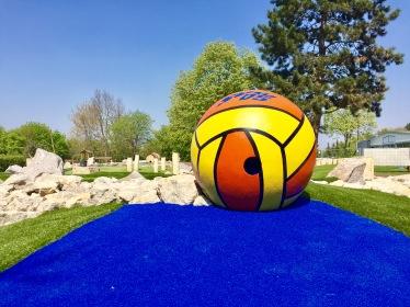 Wasserball auf der Abenteuer Golfpark-Anlage
