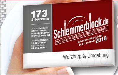 Schlemmerblock für Würzburg & Umgebung